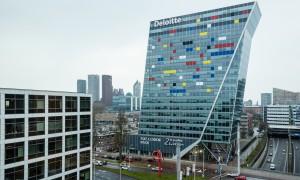 Europe, The Netherlands, The Hague, De Haagsche Zwaan with Mondriaan decoration
