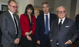 Nella foto, da sinistra , Gianfranco Rotondi, Rossella Verderosa, Pierluigi Mantini e Achille Colombo Clerici