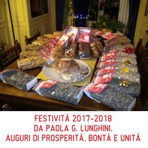 DA PAOLA G. LUNGHINI,  AUGURI DI PROSPERITÀ, BONTÀ E UNITÀ