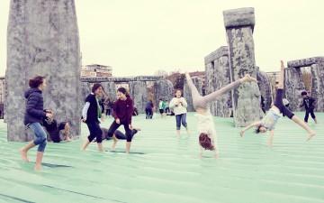 """Fondazione Nicola Trussardi con  """" SACRILEGE""""  di  Jeremy Deller  nel parco di  CityLife Park  a Milano"""