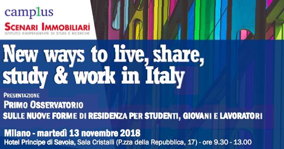 0dbcf8d6dd Il 13 novembre ,a Milano, Scenari Immobiliari e Camplus presentano ...