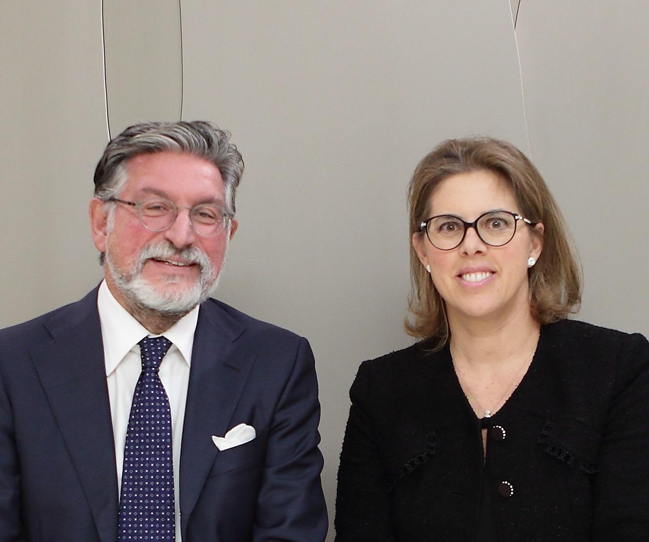 Nella  foto,  Mario Breglia  e  Carola  Giuseppetti