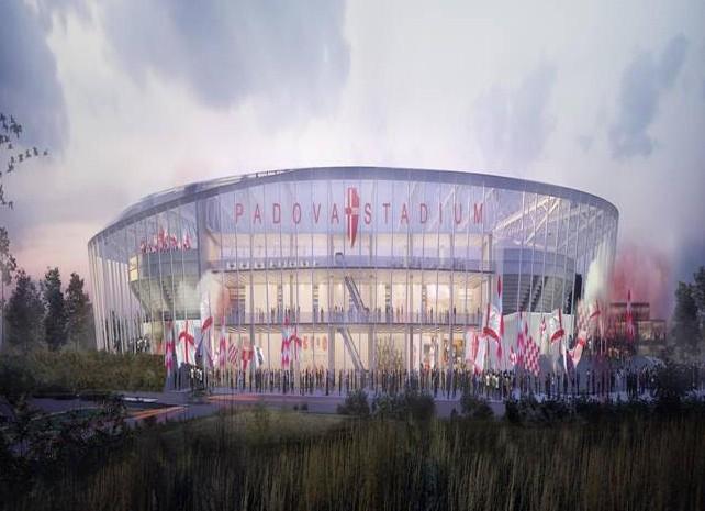 Progetto CMR con Sportium per il nuovo stadio del Calcio Padova